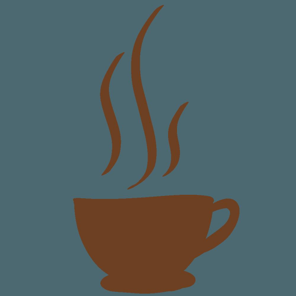 コーヒーカップシルエット素材茶色