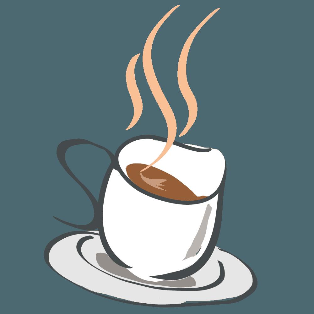 アートなコーヒーカップイラスト