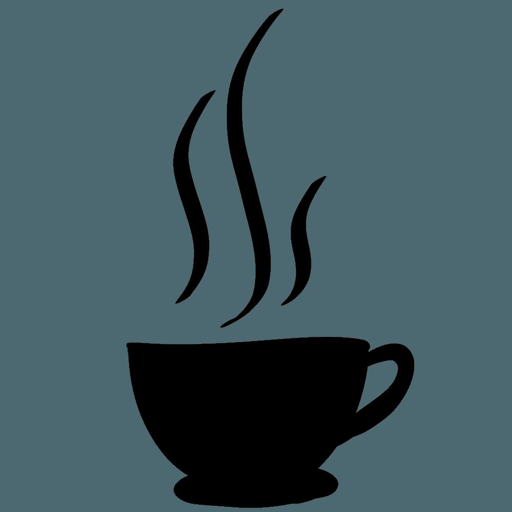 コーヒーカップのシルエットブラック