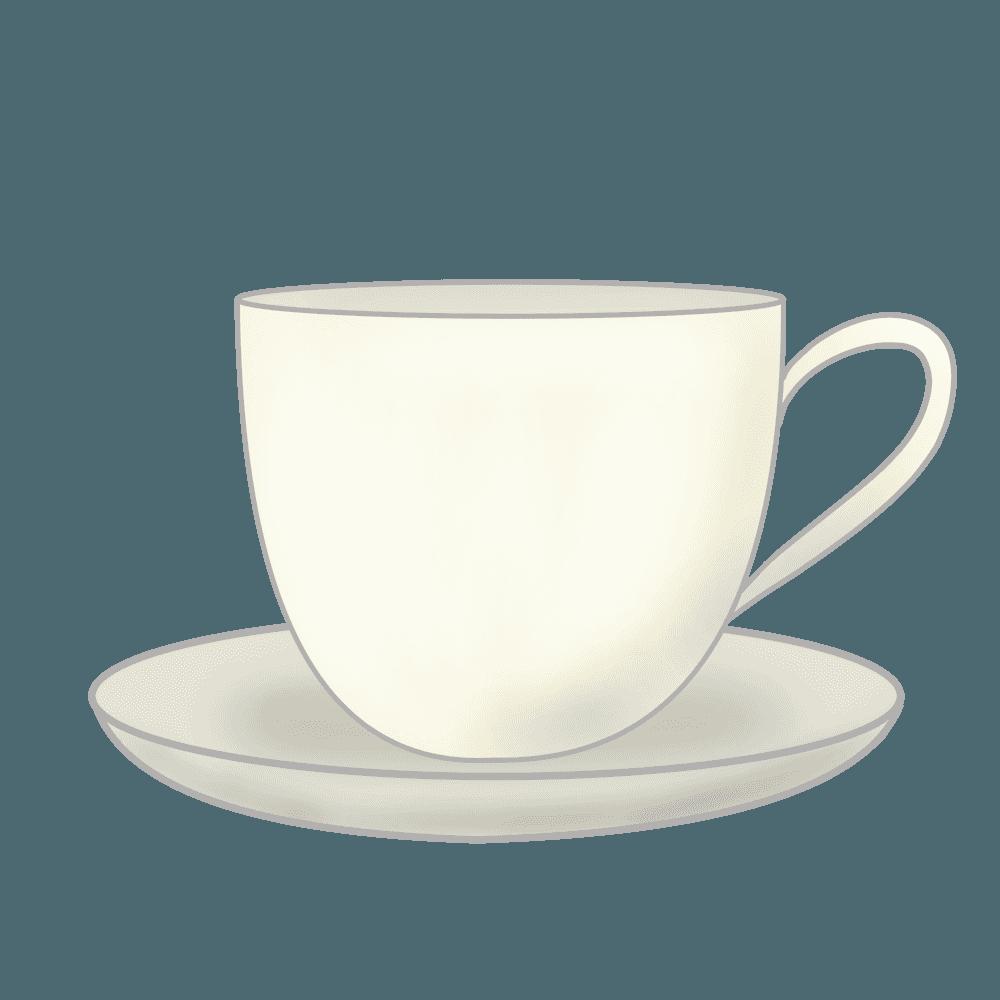 線のある普通のコーヒーカップイラスト