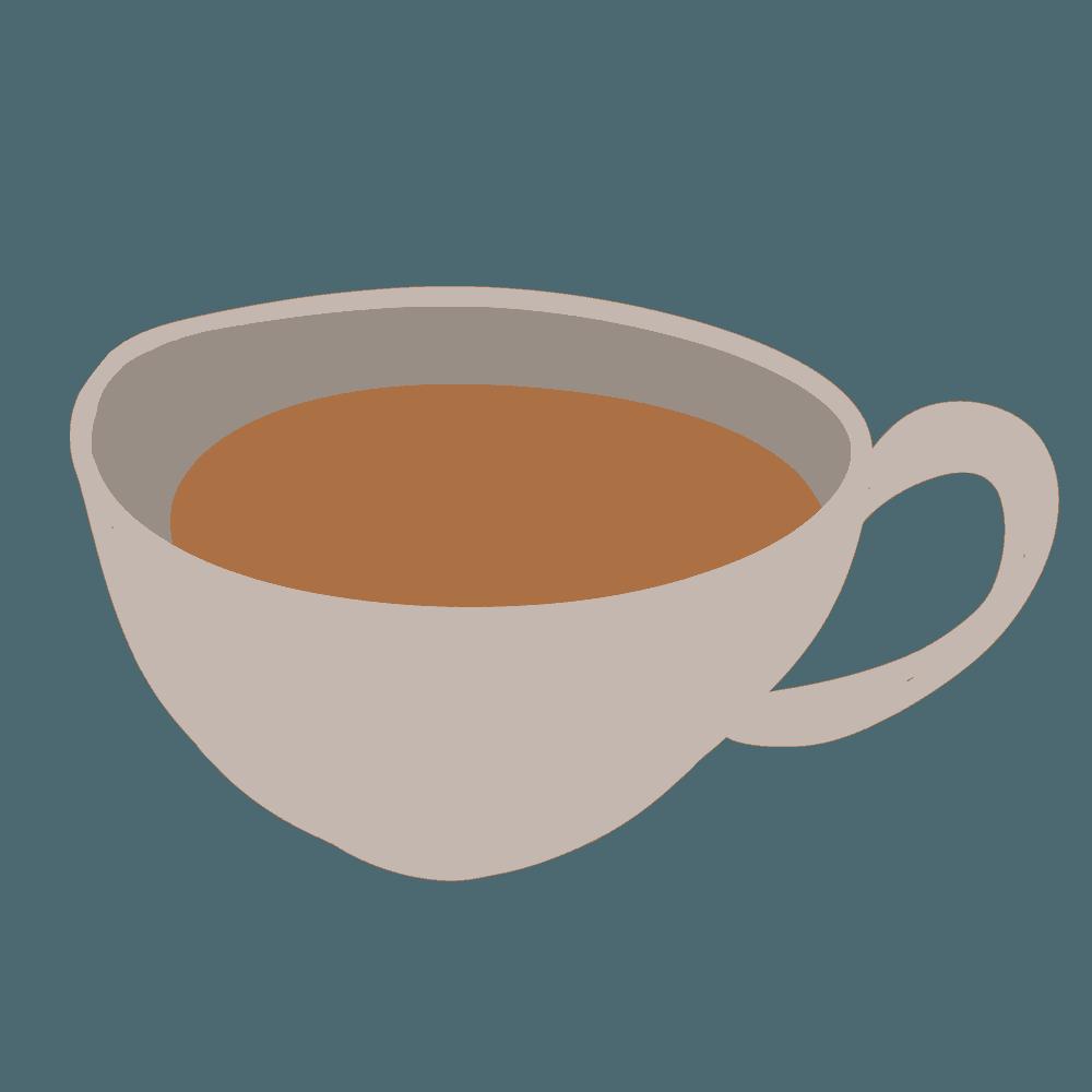 ラフなコーヒーカップイラスト