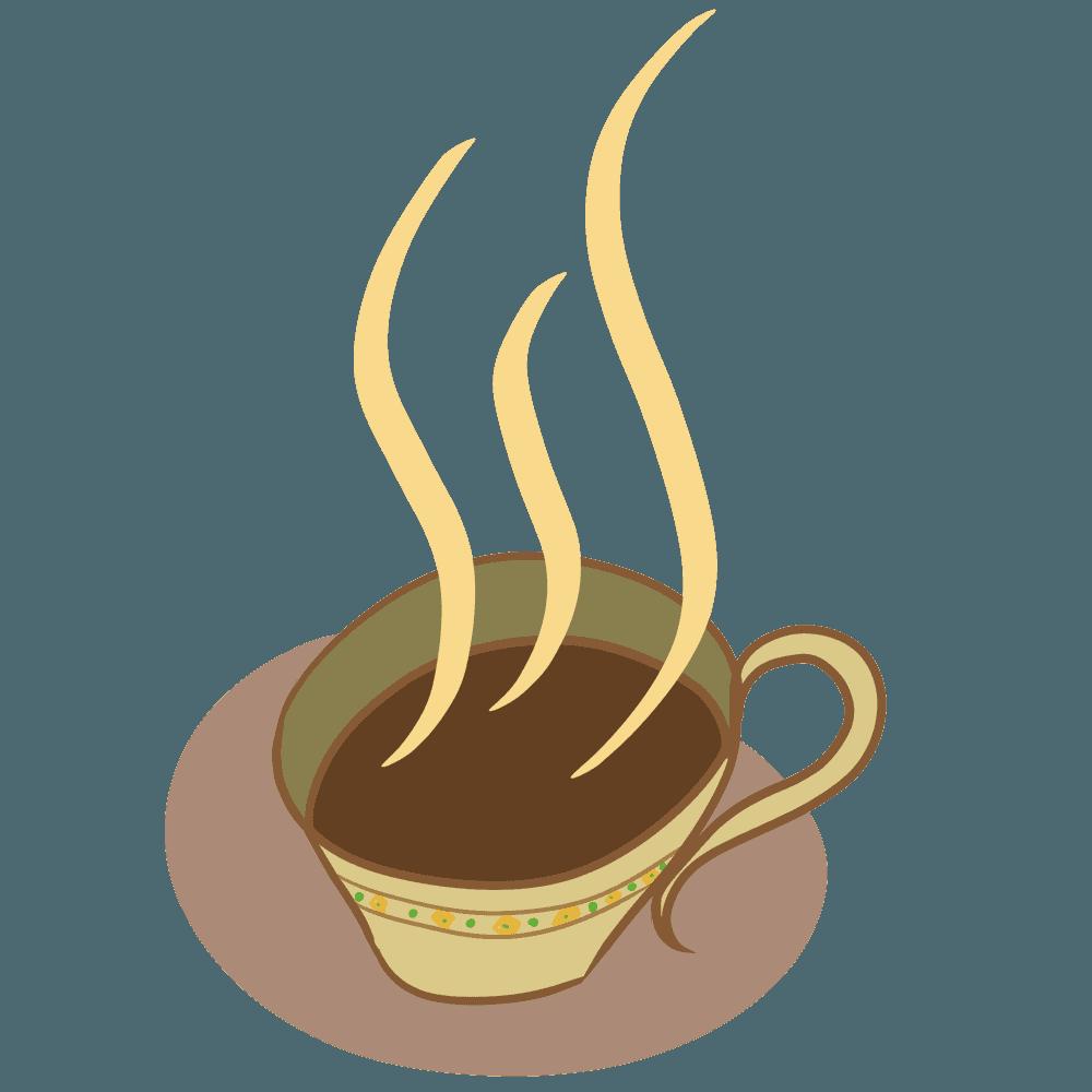 柄付きコーヒーカップイラスト