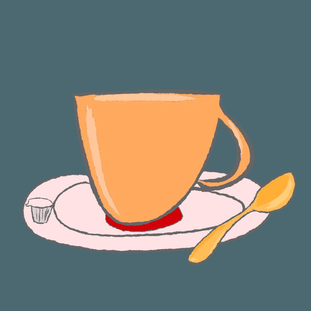 コーヒータイムイメージのイラスト