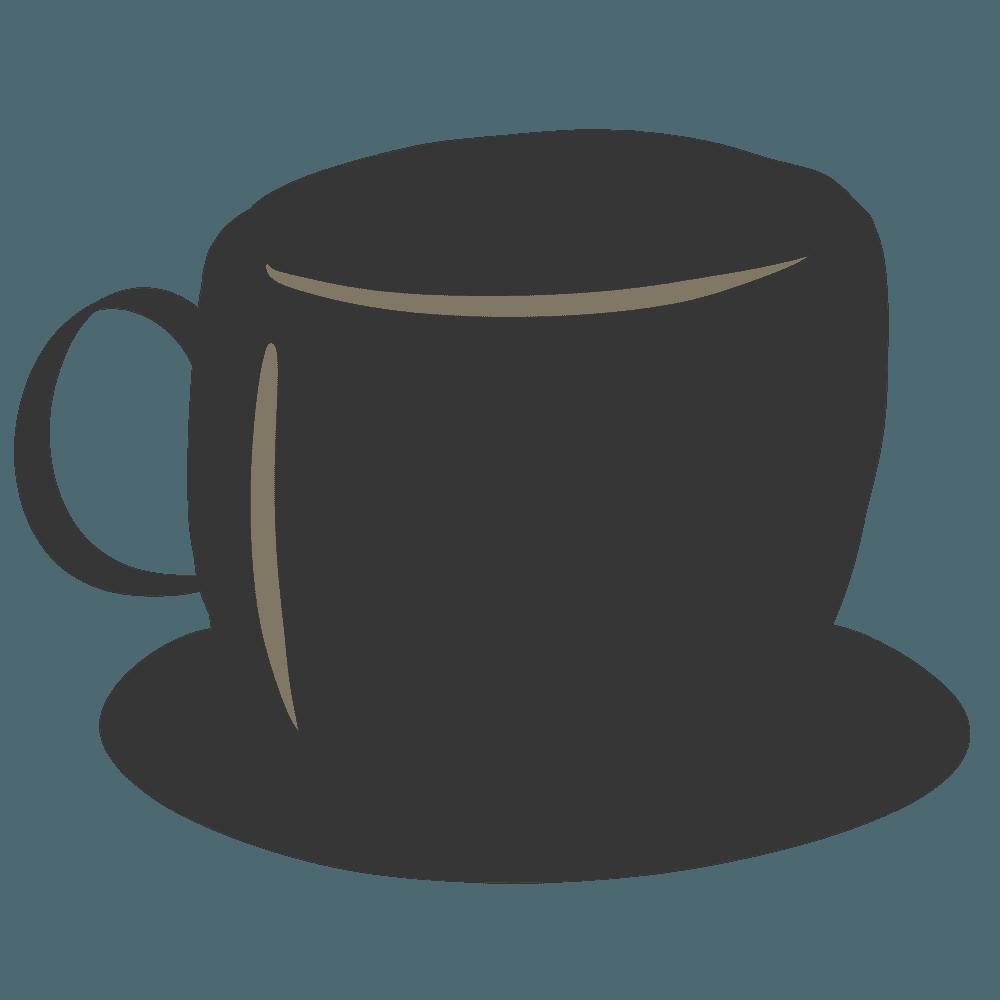 黒いコーヒーカップイラスト