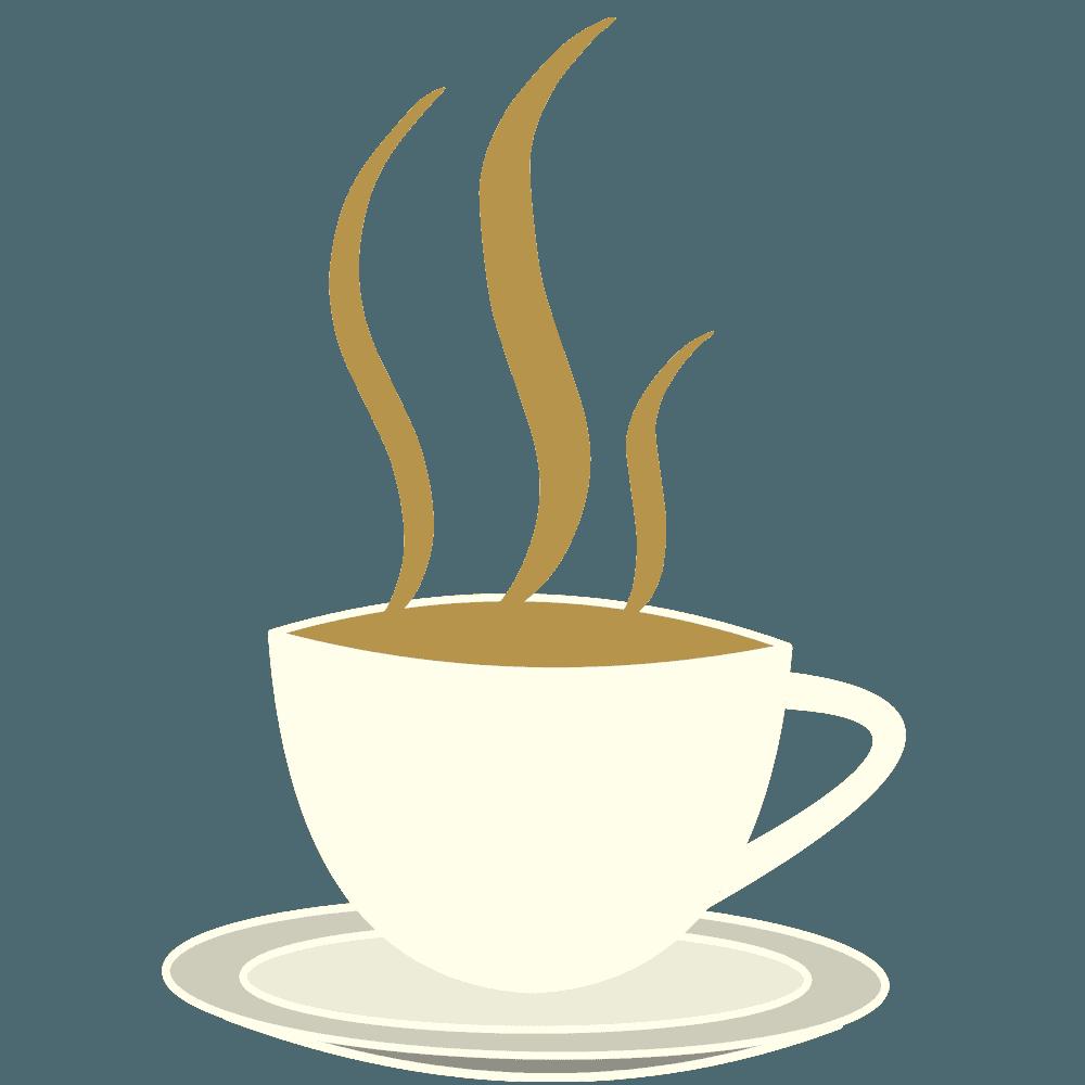 香りと湯気のコーヒーカップイラスト
