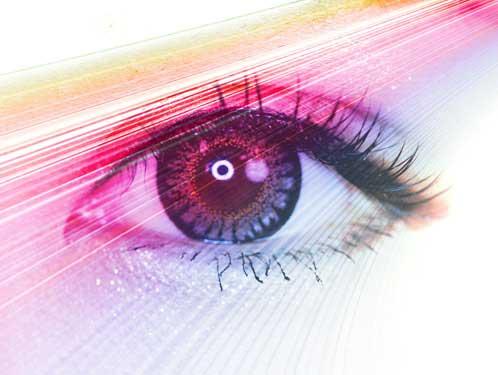 カラフルな色彩とこちらを見つめる瞳
