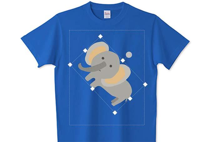 画像の配置変更とTシャツ