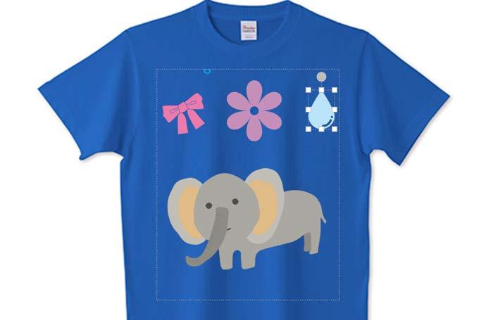 Tシャツとスタンプ機能