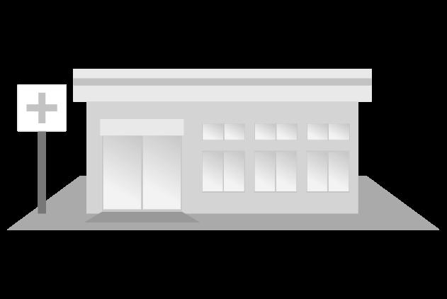 ドラッグストア(白黒)のイラスト