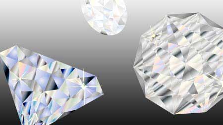 ダイヤモンドのイラスト - 綺麗な宝石の装飾無料素材