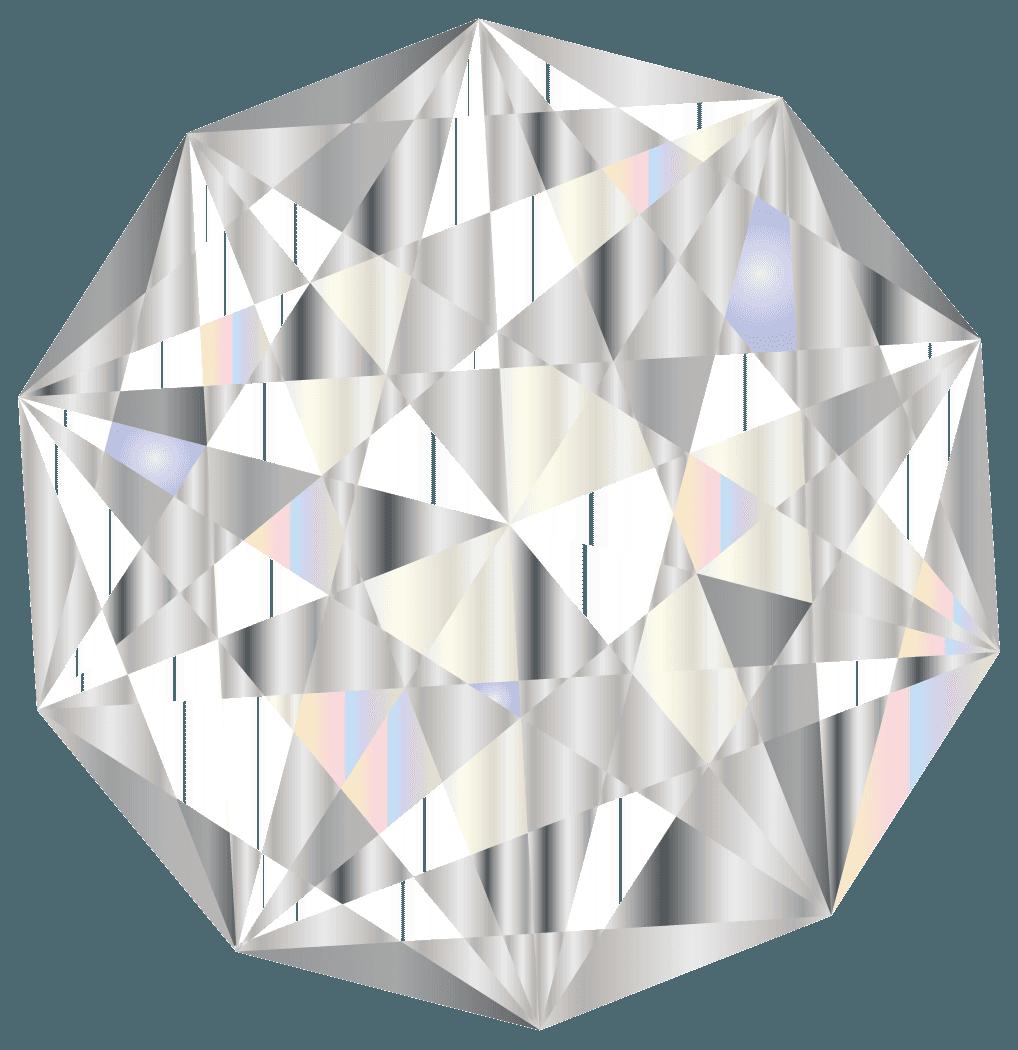 上から見たダイヤモンドイラスト