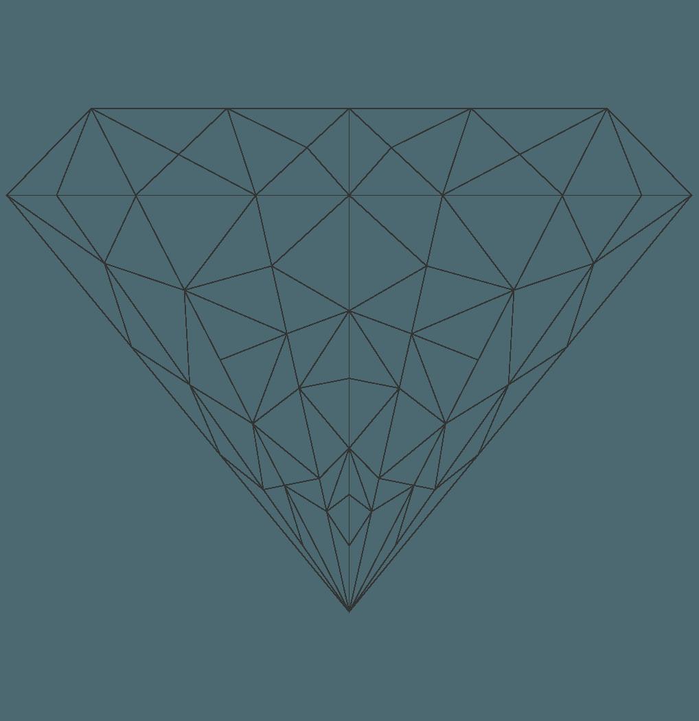 線画のダイヤモンドイラスト