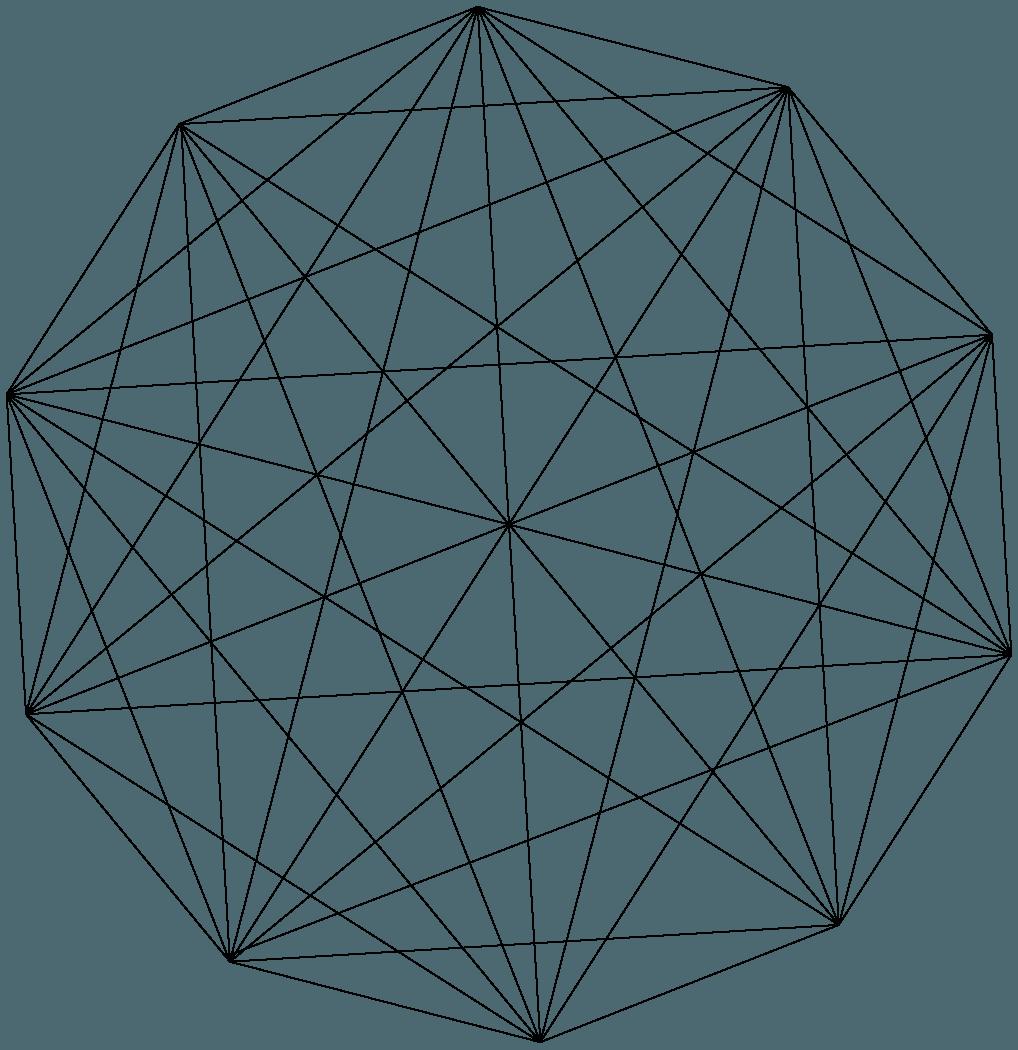 上から見た線画のダイヤモンドイラスト