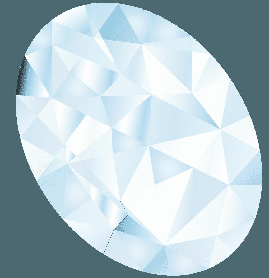 きらめく綺麗なダイヤモンドイラスト