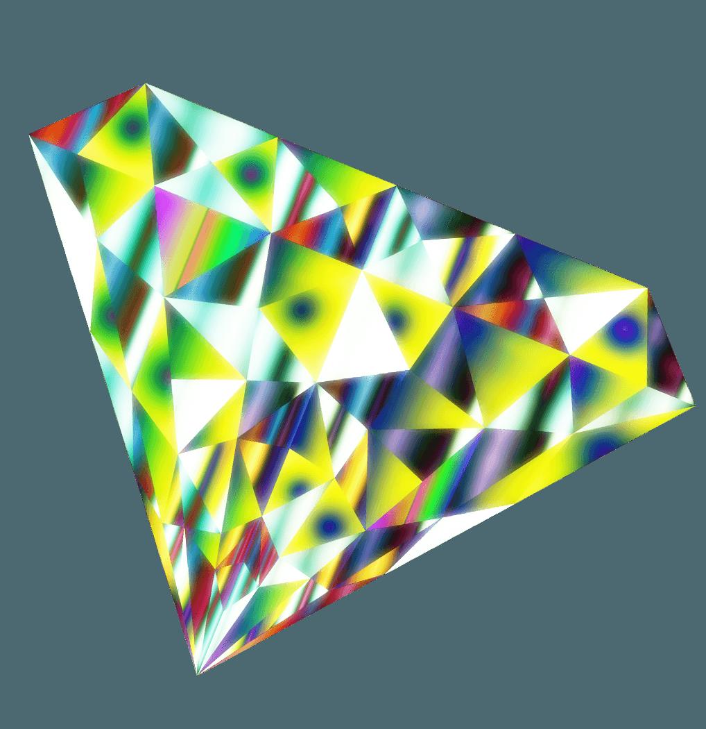 不思議な輝きのダイヤモンドイラスト