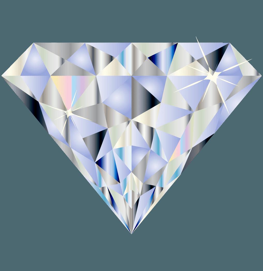 きらめくダイヤモンドドイラスト