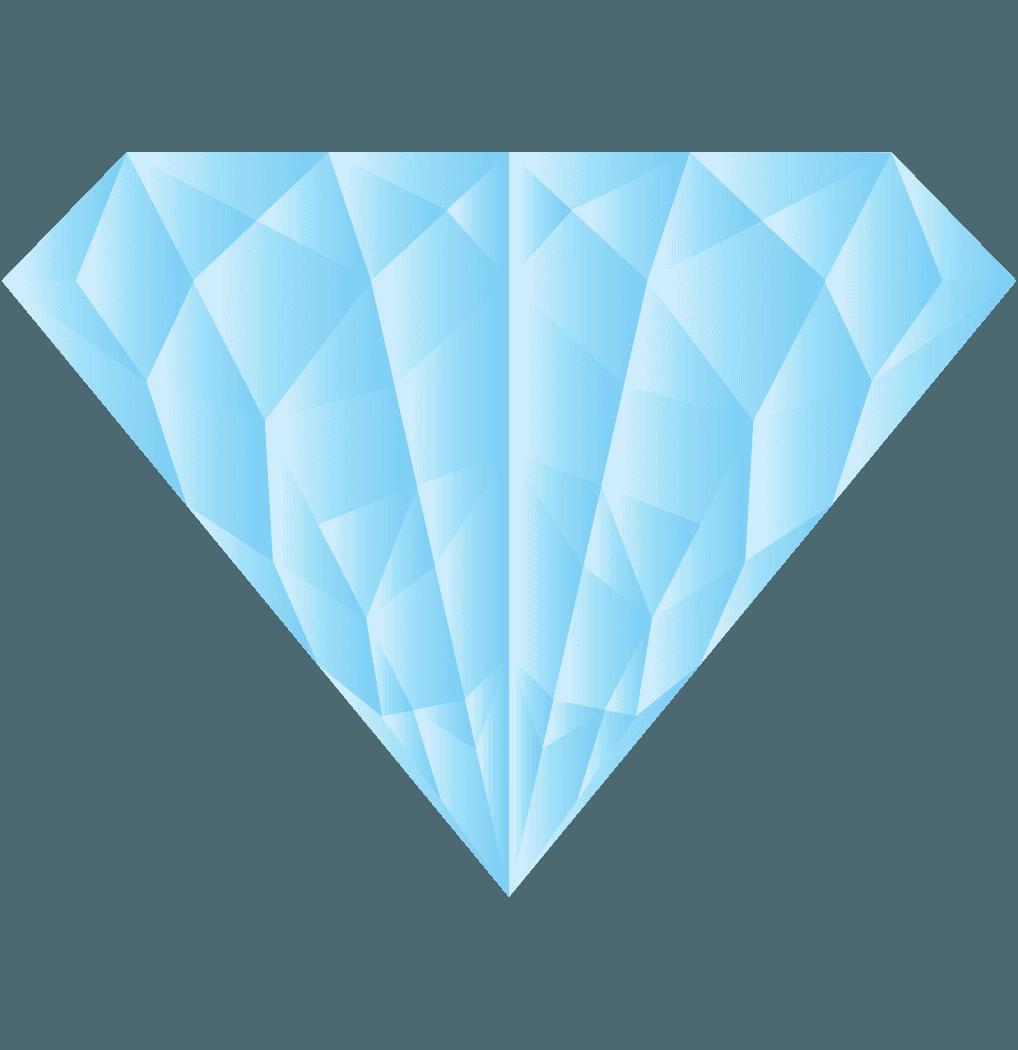 水色っぽいダイヤモンドイラスト
