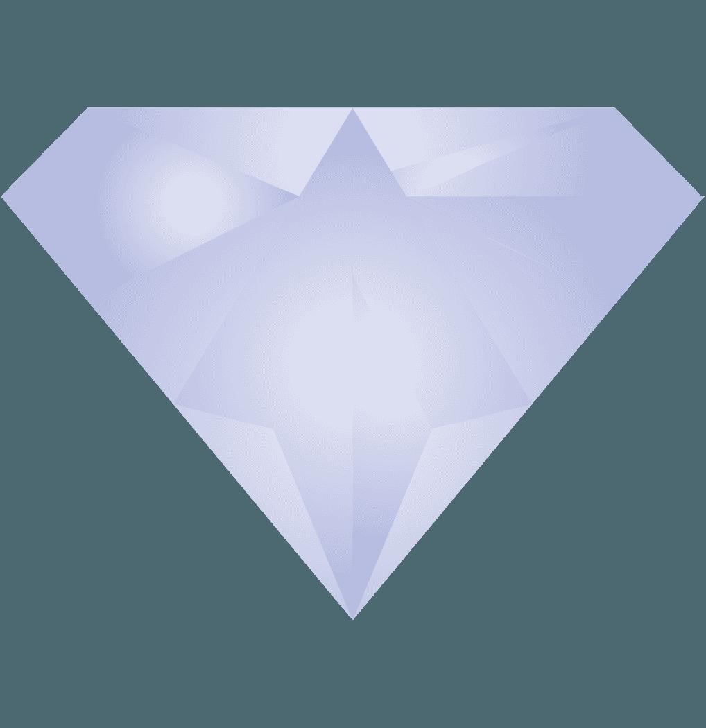 鈍い輝きのダイヤモンドイラスト