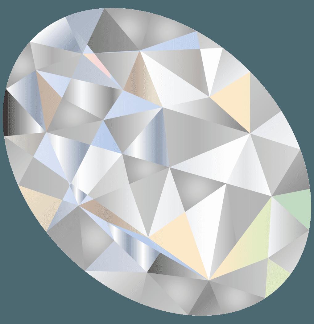 丸い輝くダイヤモンドイラスト