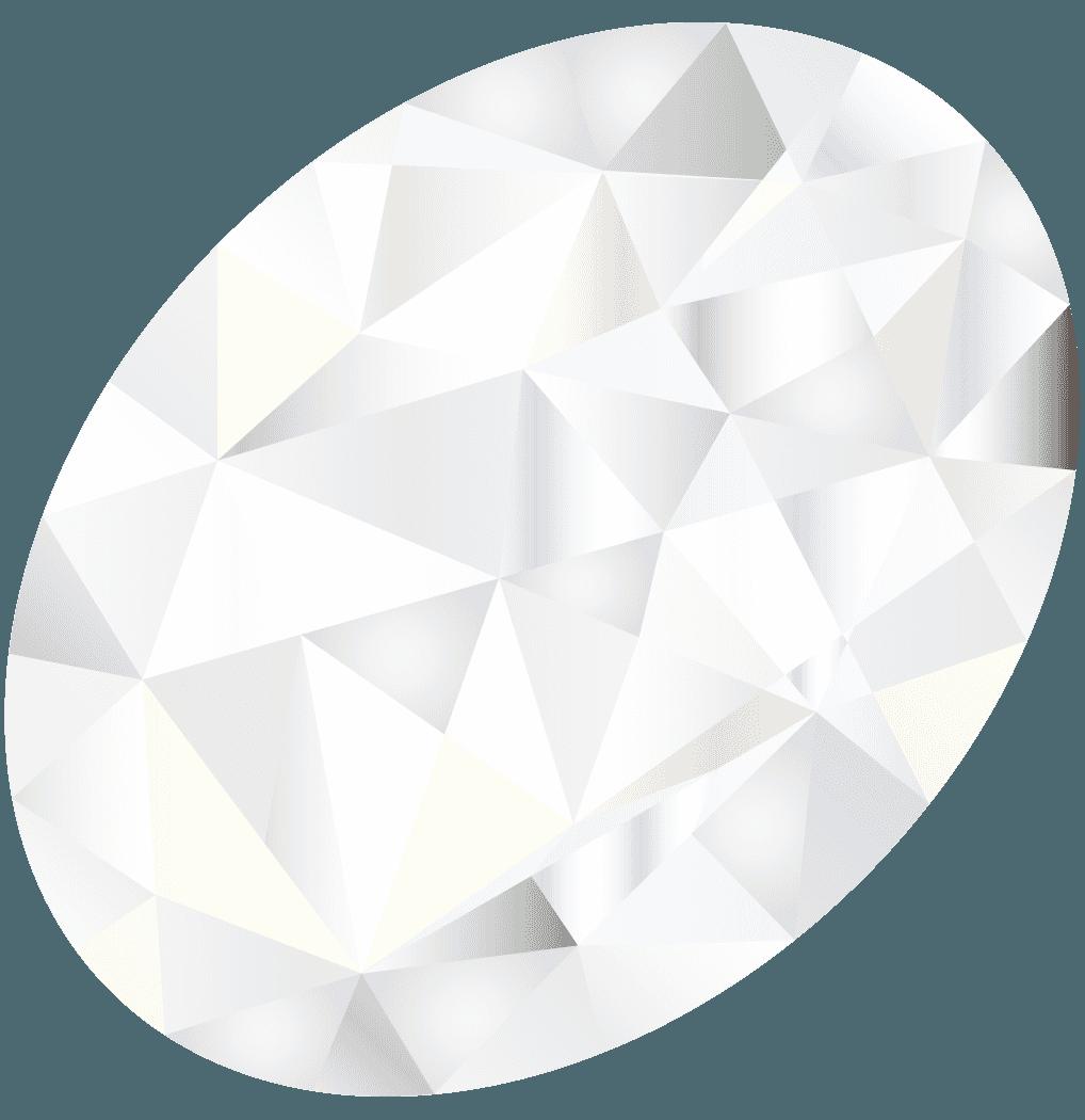 光輝く丸いダイヤモンドイラスト