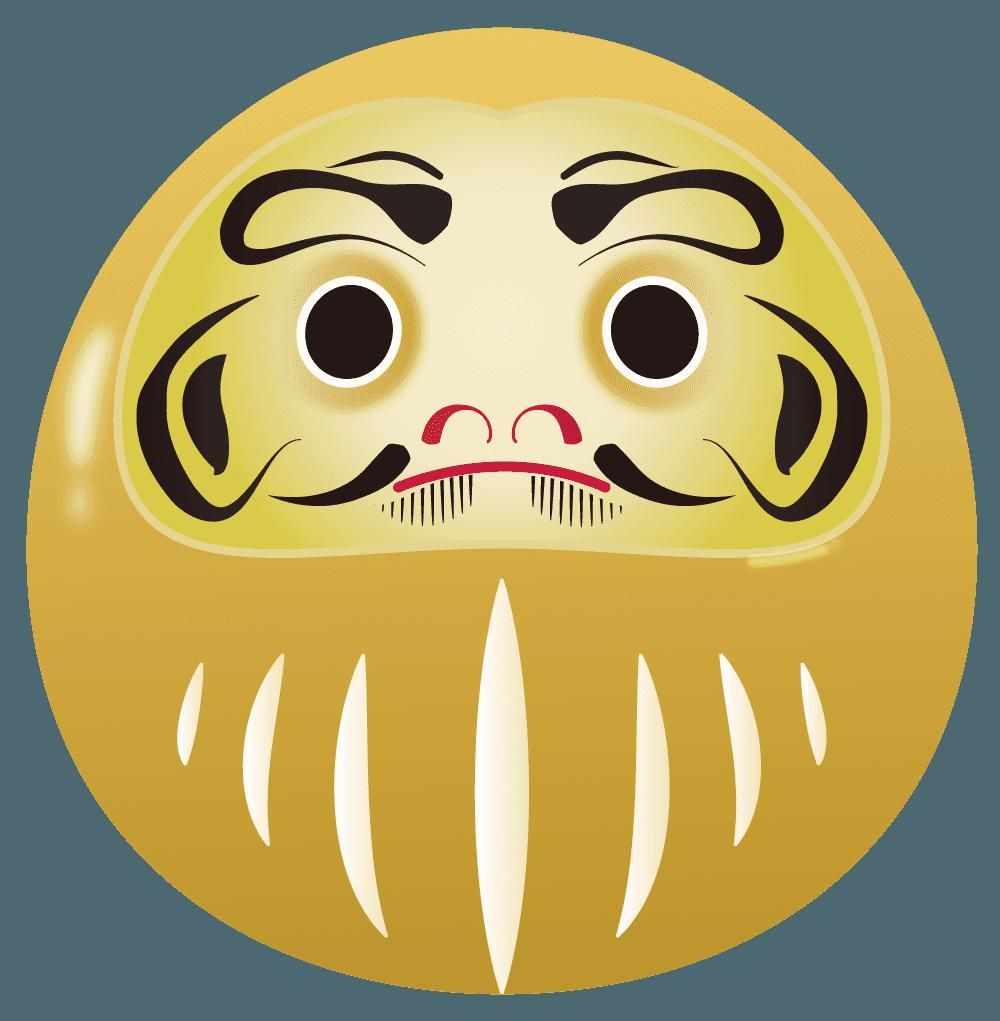 黄金のだるまイラスト