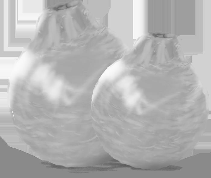 デコポンの白黒イラスト