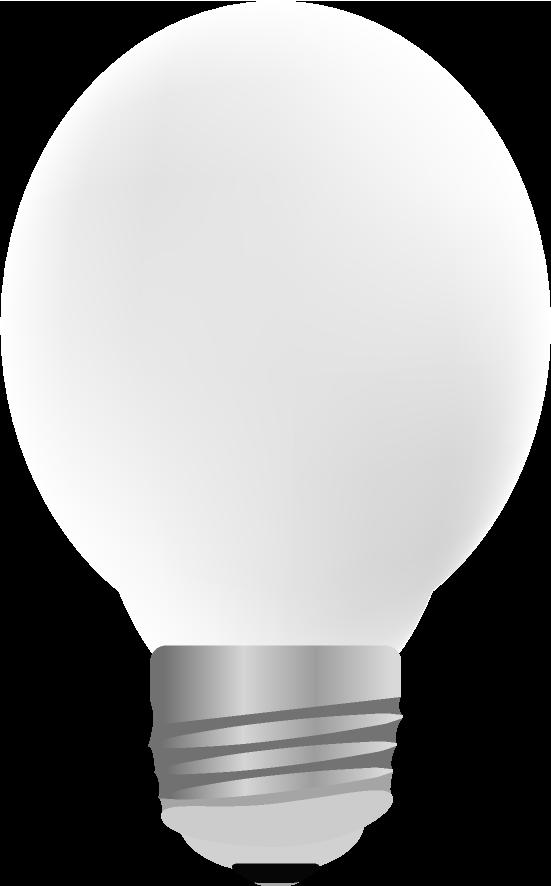 点灯していないリアルな電球のイラスト
