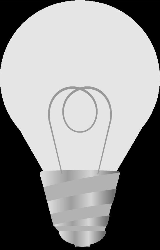 点灯していない可愛い電球のイラスト
