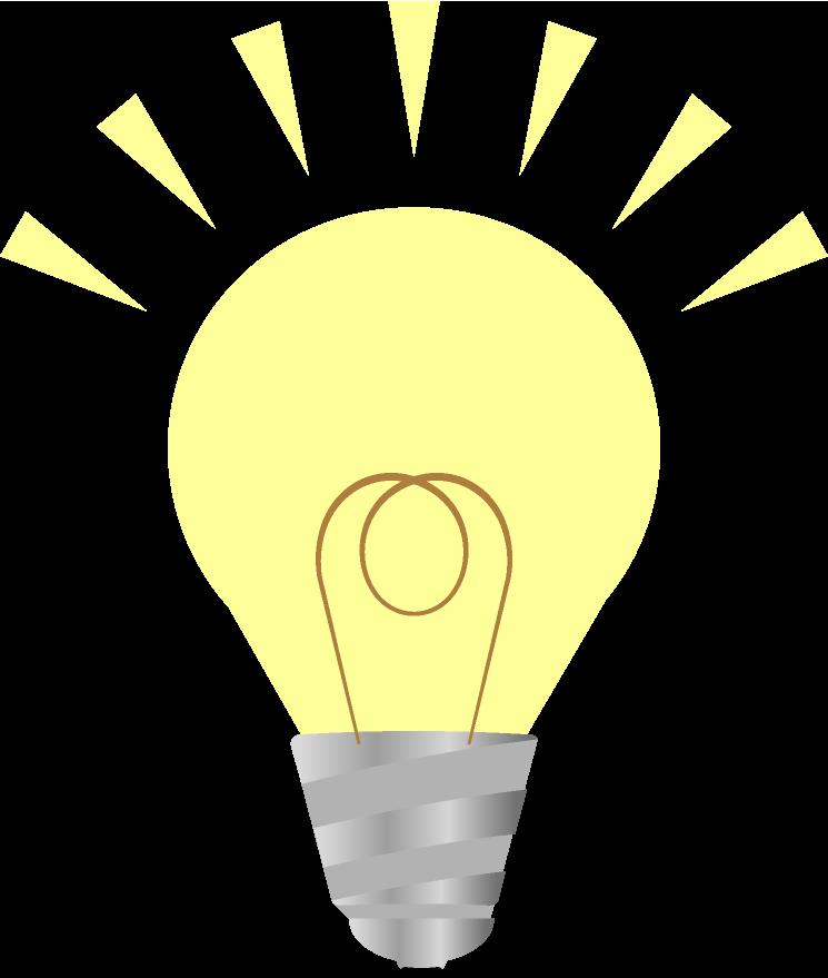 小さな明かりの電球のイラスト