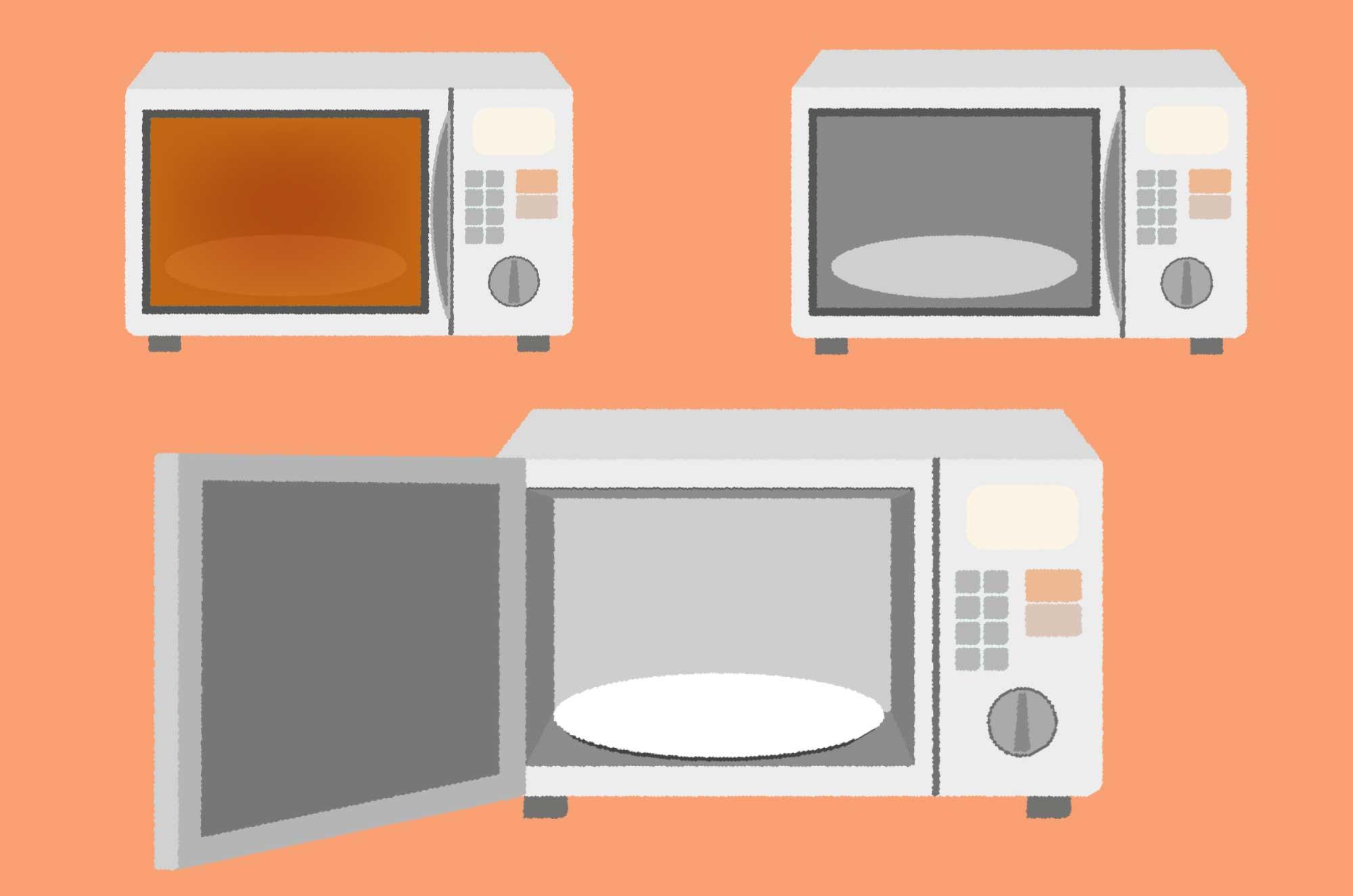 可愛い電子レンジのイラスト - 温める家電の無料素材