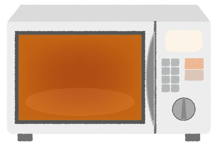 電子レンジの温めイラスト