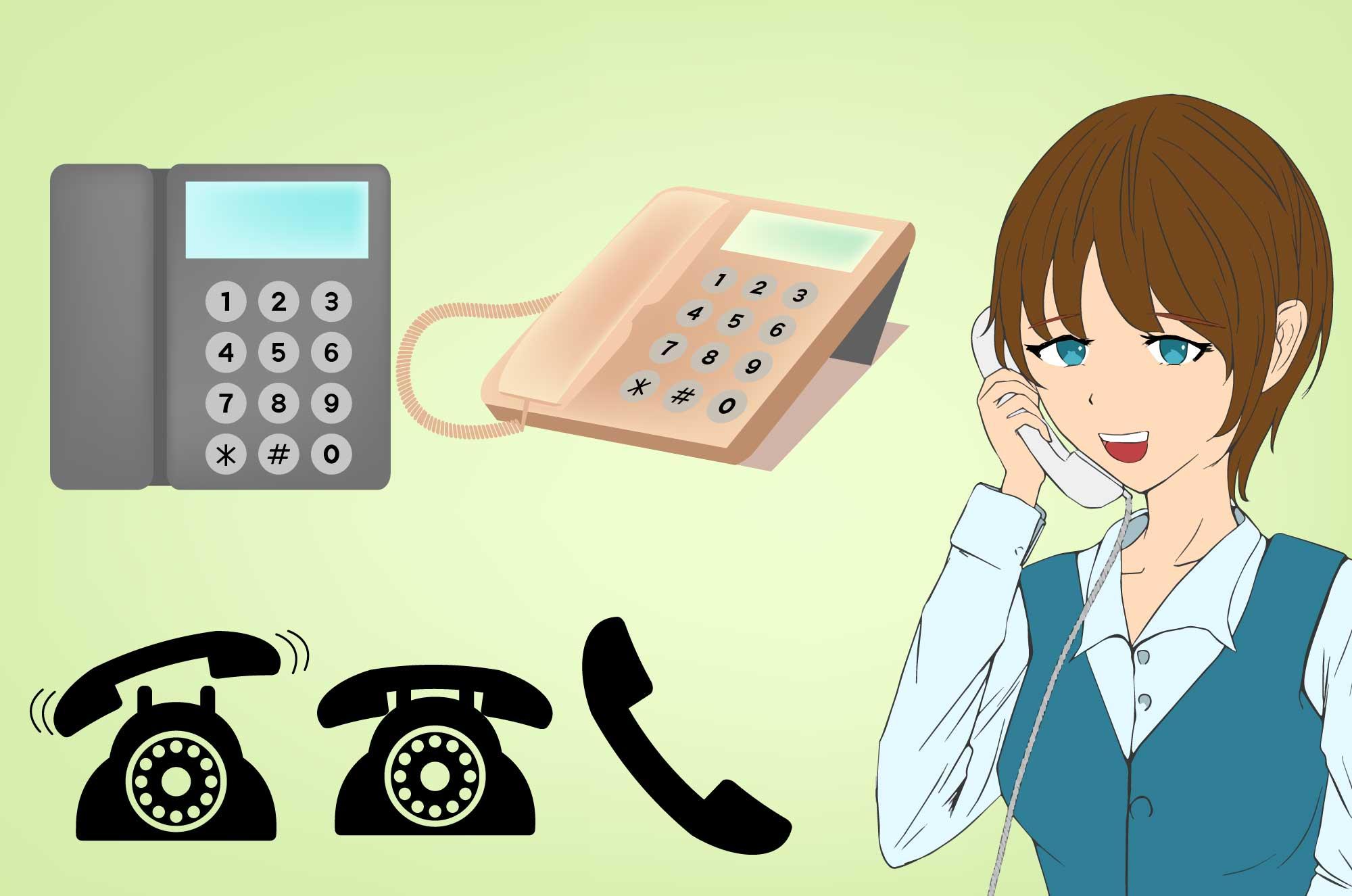 電話の無料イラスト - アイコン・電話をかける人