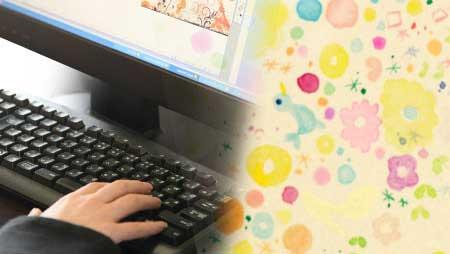パソコンとかわいいイラスト