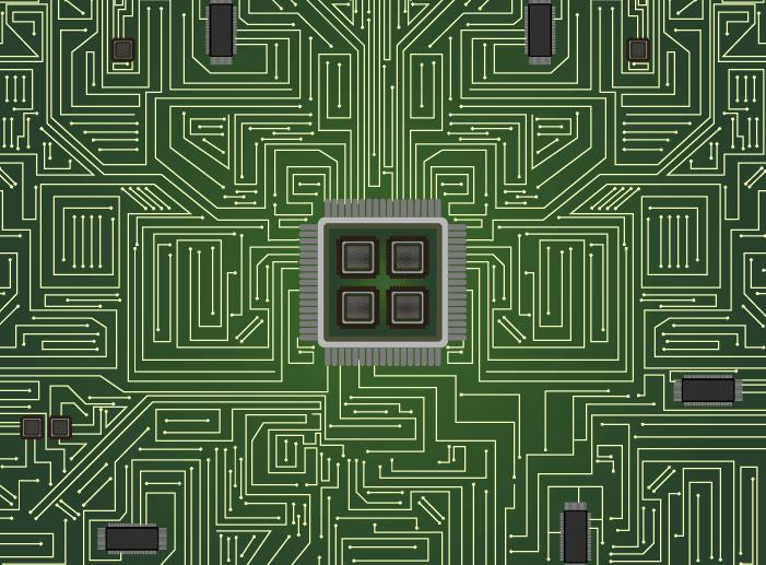 緑の基盤のイラスト
