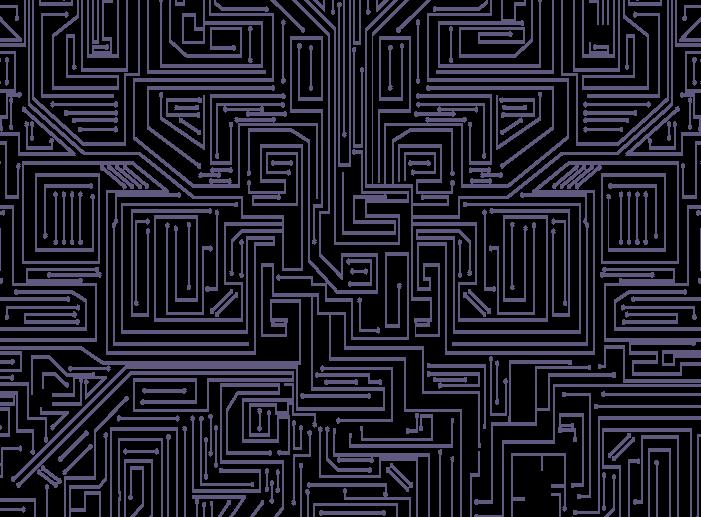 透過した基盤の線のイラスト