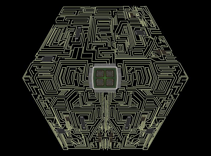 6角形基盤のイラスト