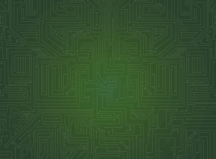 淡い緑の基盤のイラスト
