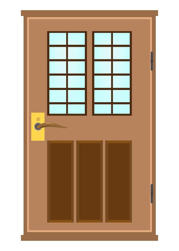 普通のドアのイラスト