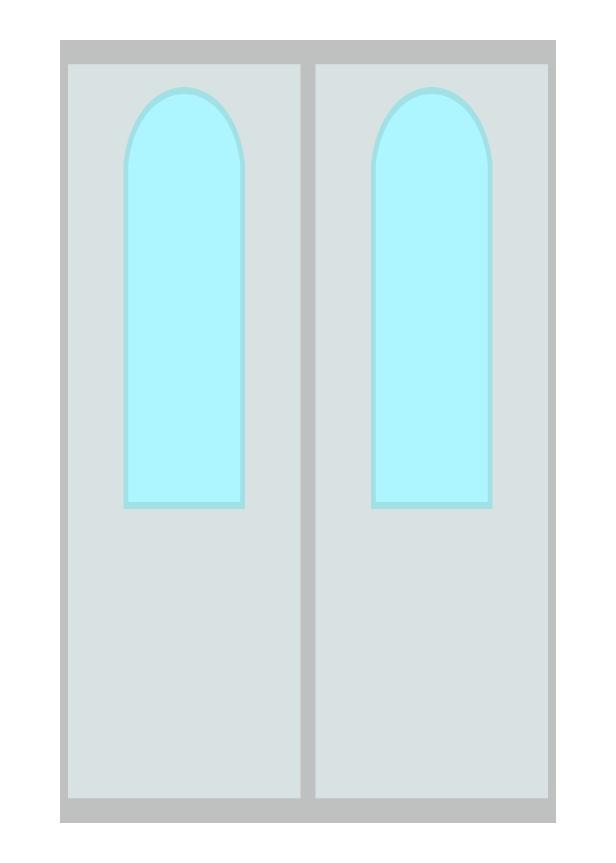 電車のドアのイラスト