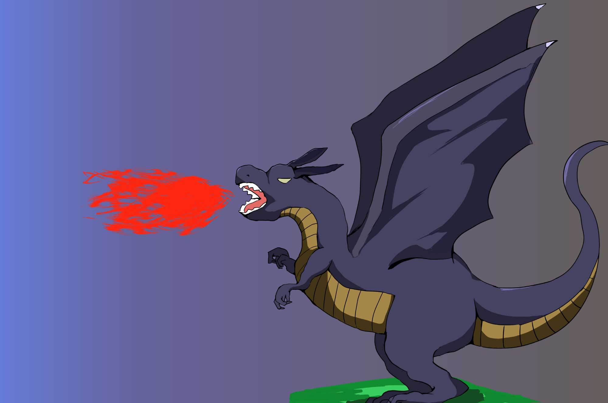 ドラゴンの無料イラスト - ファンタジー想像の生物素材