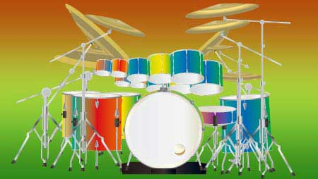 ドラムのイラスト - ロックイメージにぴったりな音楽素材