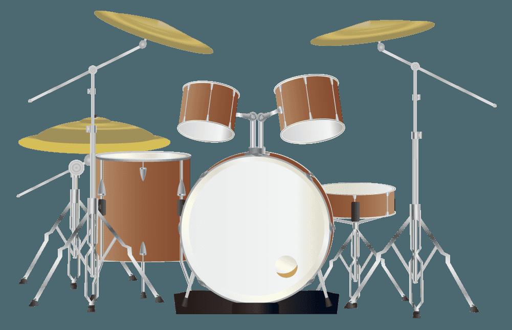 茶色いドラムのイラスト