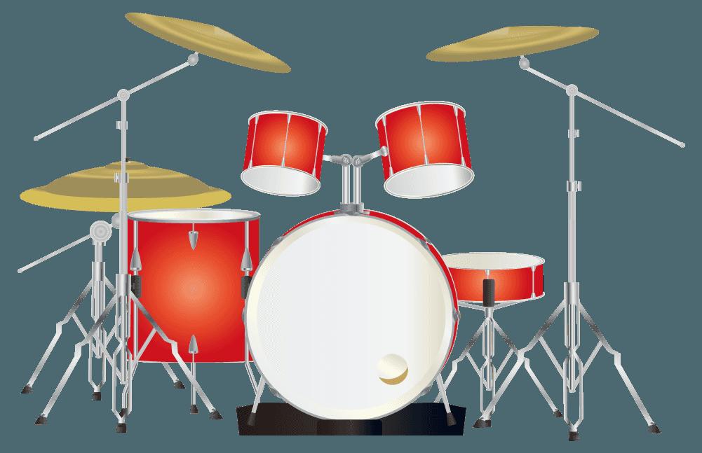赤いドラムのイラスト