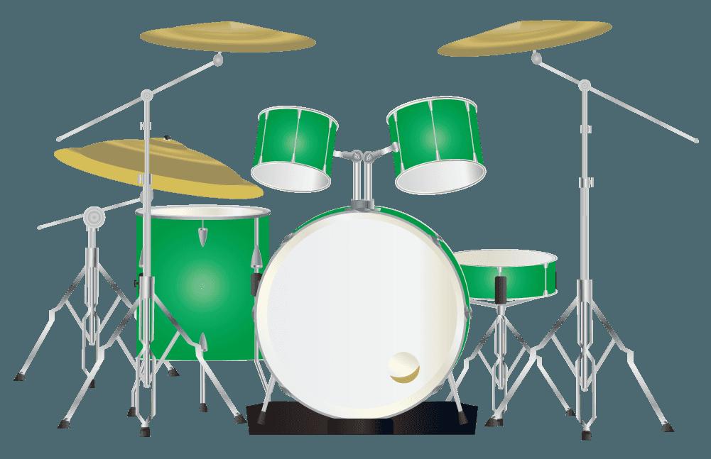 緑色のドラムのイラスト