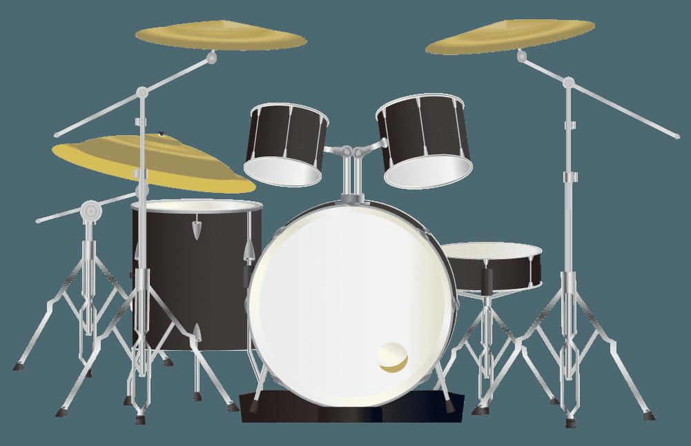 黒いドラムのイラスト