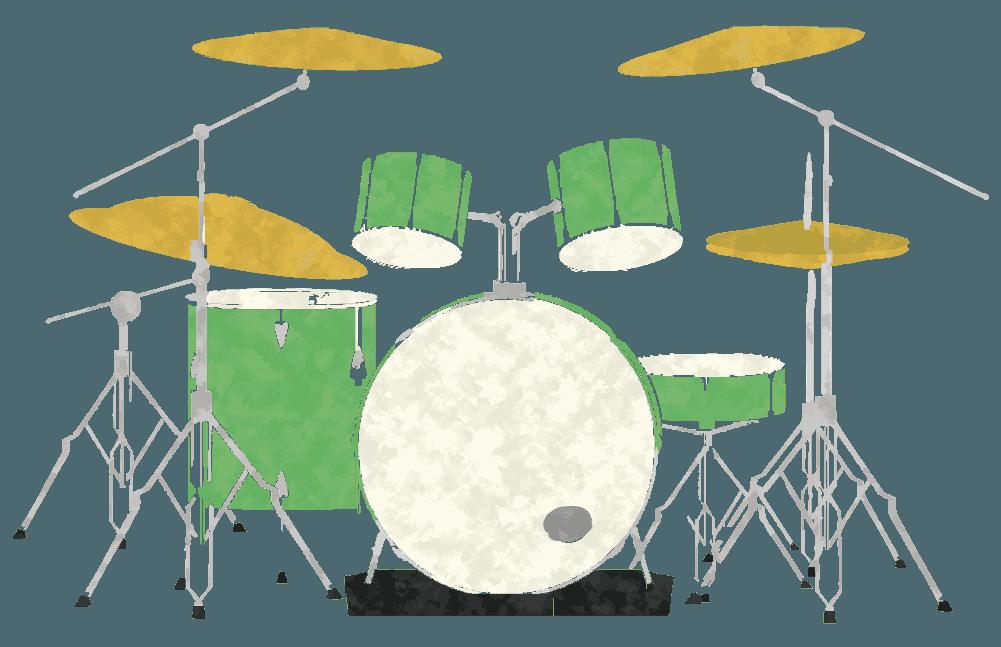 柔らかタッチのドラムのイラスト