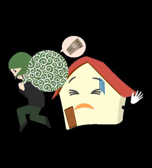 空き巣泥棒のイラスト