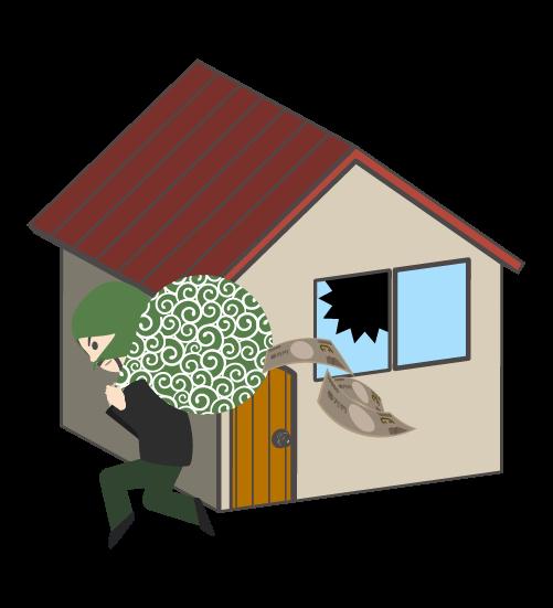 空き巣泥棒のイラスト2