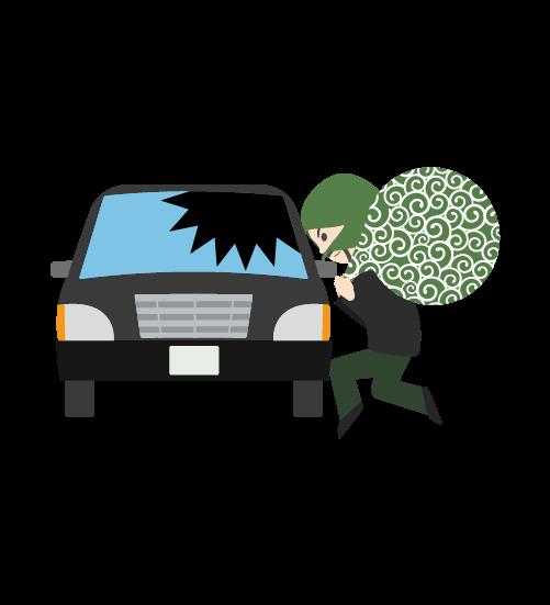 車上荒らし泥棒のイラスト2