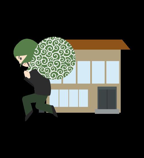 事務所を狙う泥棒のイラスト